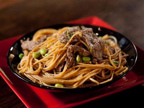 teriyaki noodles recipe rachael ray food network