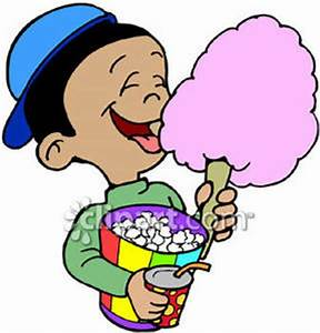 Eating Cotton Candy Clipart