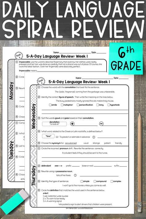 grade daily language spiral review teacher