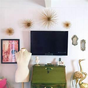 Diy gold sea urchin starburst wall decor tutorial for Diy office wall decor