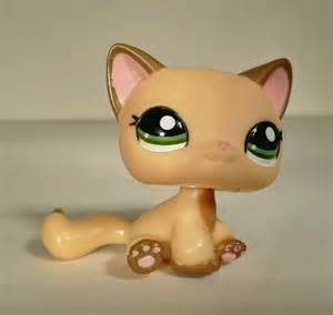 lps shorthair cats for littlest pet shop lps yellow and brown sitting hair