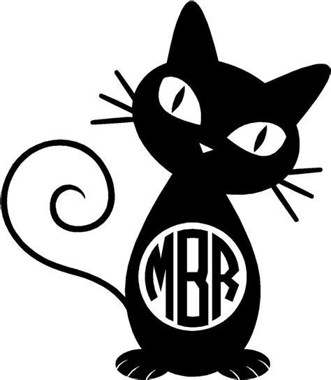 personalized cat circle monogram vinyl decal sticker car yeti tablet ebay