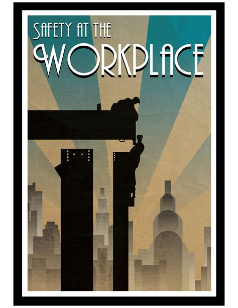 deco poster safety at the workplace deco poster by filipvajbar on deviantart