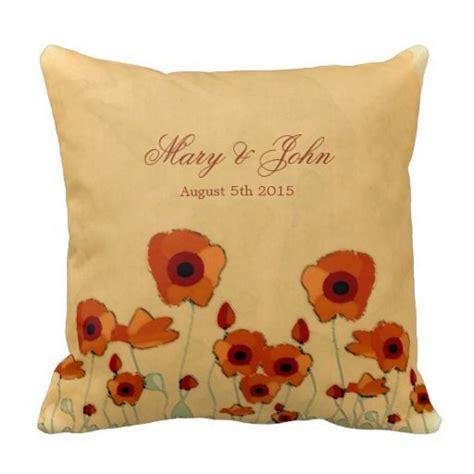 poppy wedding pillow  images wedding pillows