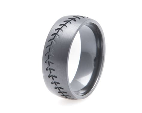 Blacked Out Baseball Ring, Sports Wedding Rings  Titanium. Cheap Sapphire. Cute Wedding Rings. Mining Sapphire. Wrap Necklace. Red Ruby Necklace. Entry Bracelet. Axe Pendant. Jewel Brooch