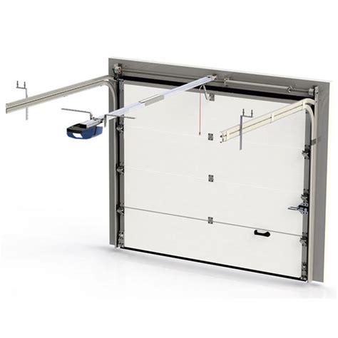 porte de garage sectionnelle lisse motoris 233 e porte sectionnelle standard