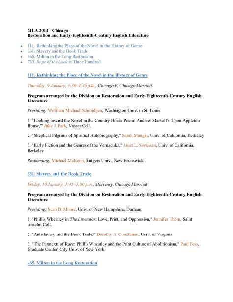 MLA Format Essay Paper