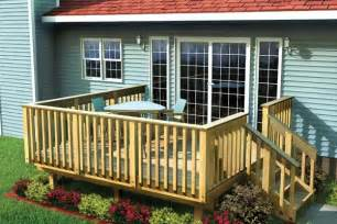 wrap around house plans project plan 90002 easy raised deck