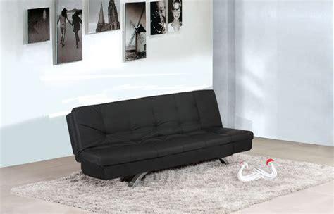 Sofa Divano Letto Reclinabile Salotto Ecopelle Nero 3