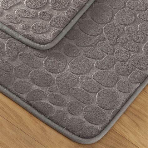 tapis de bain galet tapis bain galet gris tradition des vosges