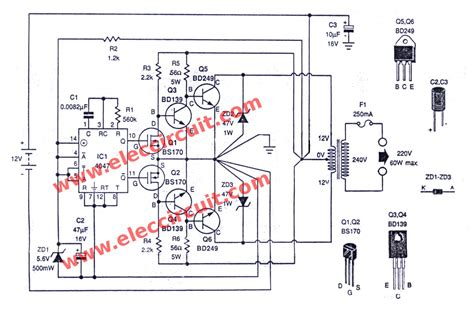Inverter Circuit With Irf Diagram Images
