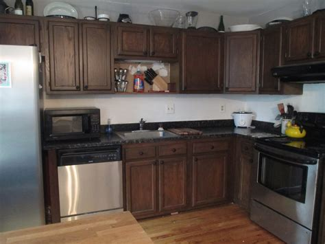 Restaining Kitchen Cabinets Gel Stain Video And Photos