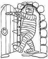 Mummy Coloring Pages Chamber Walking Into Printable Print sketch template