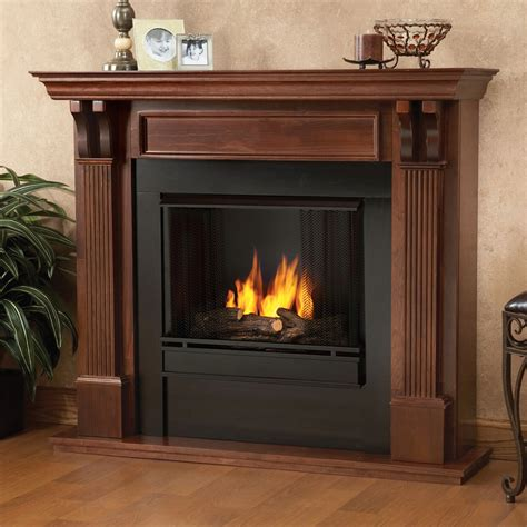 Real Flame Ashley Indoor Ventless Gel Fireplace In Mahogany