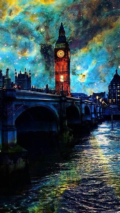 Wallpapers Vertical Sky Night London Water Clouds