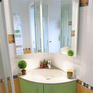 Colonne D Angle Salle De Bain : meuble d angle salle de bain castorama free merveilleux meuble miroir salle de bain castorama ~ Teatrodelosmanantiales.com Idées de Décoration