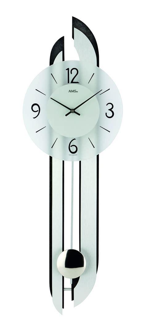 pendule de cuisine horloge murale à balancier en verre et aluminum