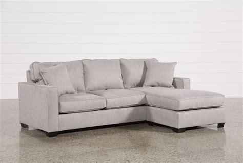 Chaise Sofa by Egan Ii Cement Sofa With Reversible Chaise Sofas And