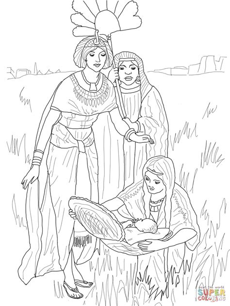 finding  baby moses coloring page  printable coloring pages