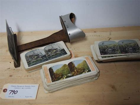 Now comes with a removable pedestal! Stereoscope Viewer with ~100 Stereoscopic Cards
