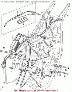 Honda Cb175 Super Sport 175 K6 1972 Usa Wire Harness