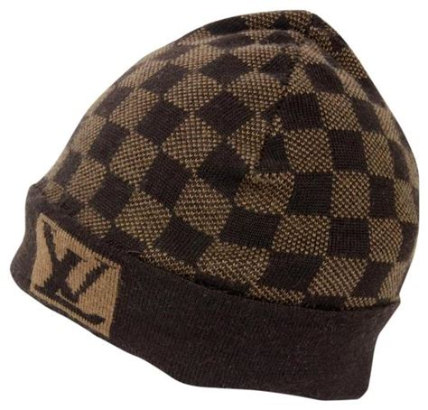 louis vuitton signature damier lv monogram  wool beanie skully