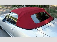 Mazda Mx5 MK2 Soft Top Burgundy Mohair Hood with Glass