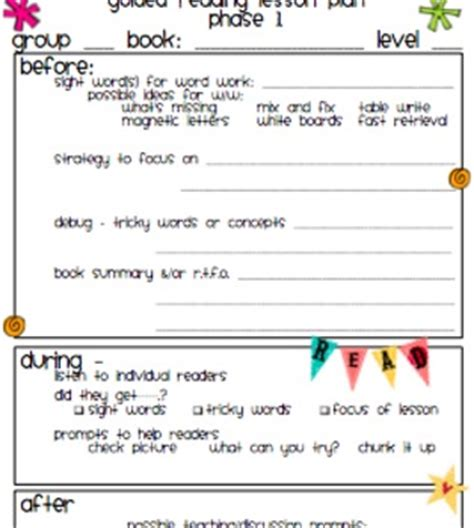 guided reading lesson plan template easy to follow 226 | original 449230 1