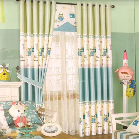 rideaux chambre bebe abordable pas cher épais dentelle bébé bleu vert