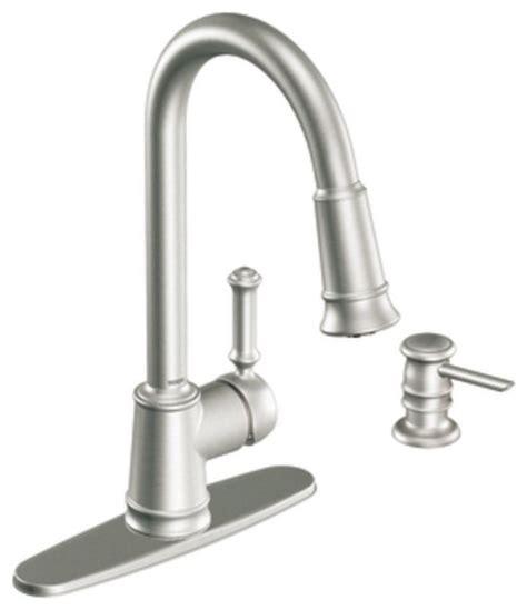 Moen Lindley Faucet Bronze moen 87012srs lindley single handle pullout kitchen faucet