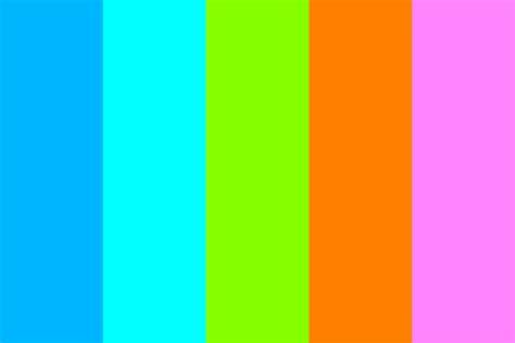 bright color palette couleurs vives in bright colors color palette
