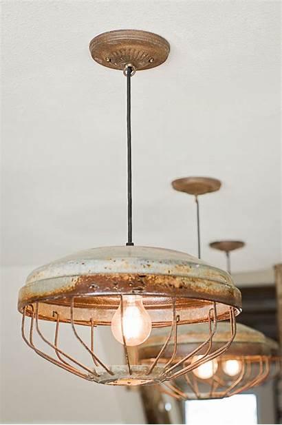 Lighting Round Industrial Chicken Rustic Lights Feeder