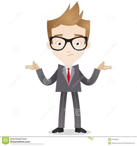 businessman shrugging shoulders stock  image