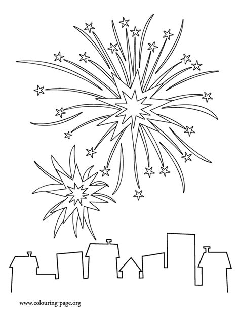 years fireworks coloring page paper pinterest