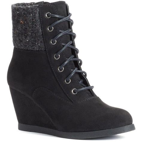 ankle sweater boots so 39 s sweater knit wedge ankle boots liked on