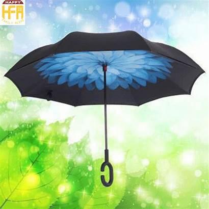 Umbrella Handle Type Inverted Umbrellas Bone Rod