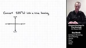 Trigonometry  Compass Bearings Vs True Bearings