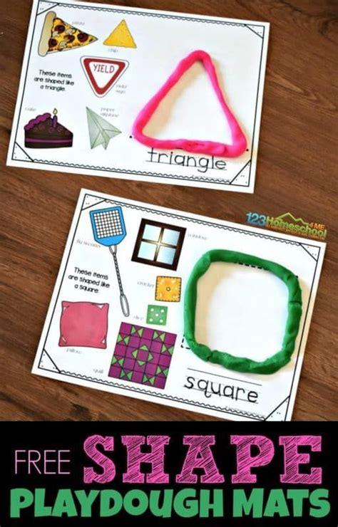 shape playdough mats shapes  kids teaching