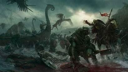 Creature Fantasy Dark Artwork Battle Viking Strid