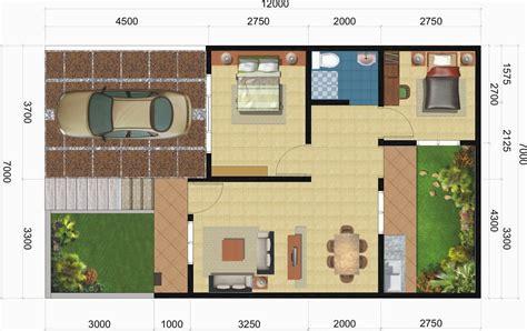 denah rumah  kamar ukuran   dicari mewah