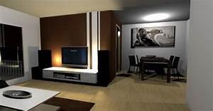 Wohnzimmer wände gestalten farbe