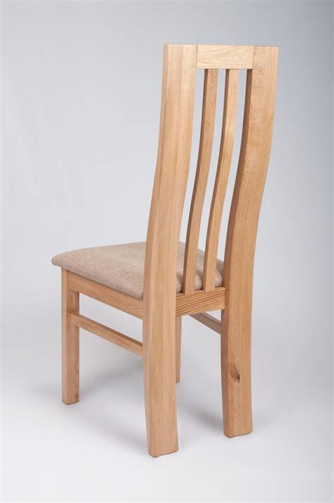 phoenix solid oak dining chair high   padded