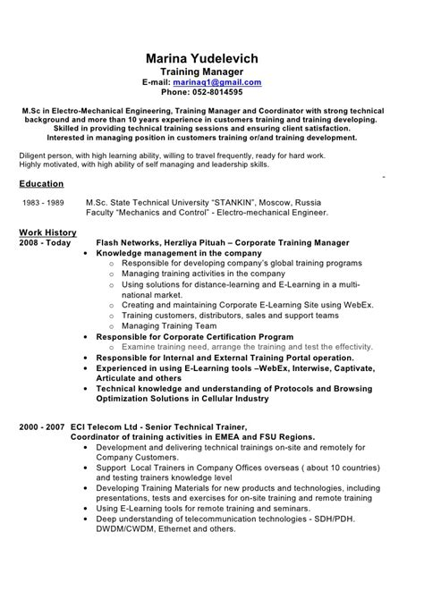 pdf 12 sle corporate trainer resume book