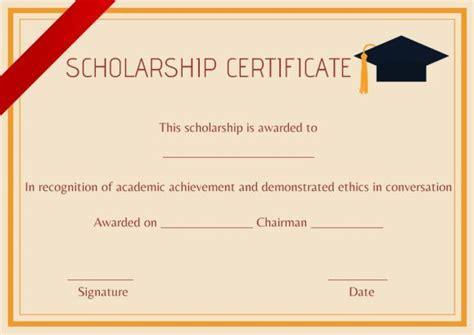 high school scholarship certificate template certificate