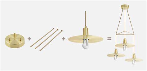 create a chic contemporary chandelier without breaking the
