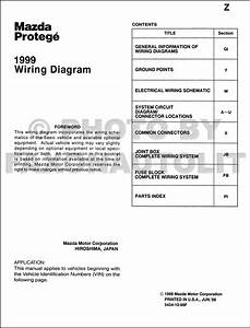 1999 Mazda Protege Wiring Diagram Manual Original