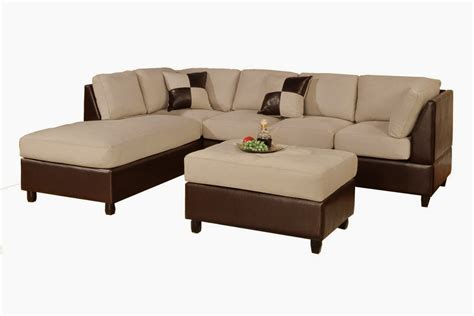 L Shaped Leather Couch   Decofurnish
