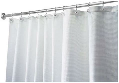 white shower curtain luxury woven fabric spa