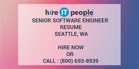 senior software engineer resume seattle wa hire