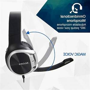 Gaming Headset For Ps4 Controller Xbox One Pc Laptop Mac